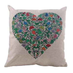 Heart of Flowers Color me Cushion