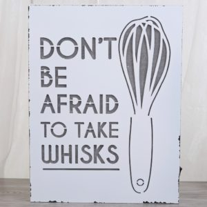 Vintage Light-Up Whisk Sign