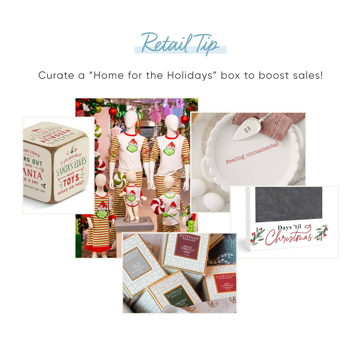 """OneCoast Retail Tip: Curate a """"Home for the Holidays"""" box for your customers to boost sales!"""